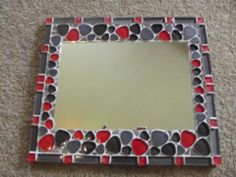 Basic mosaic mirror - my first ever mosaic- by Sandra Holmes
