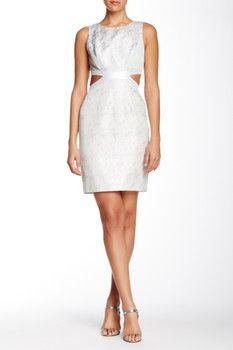 Phoebe Cutout Jacquard Sheath Dress