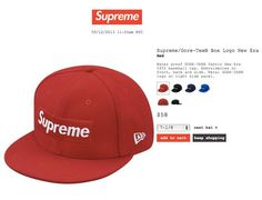 SUPREME x GORE-TEX x NEW ERA「Box Logo」59Fifty Fitted Baseball Caps