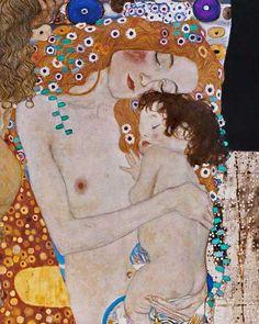 Gustav Klimt-The three ages detail
