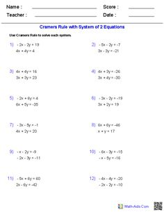 Worksheet Worksheets Inverse Of Matrix 2×2 matrix multiplication worksheets math aids com pinterest these algebra 2 generators allow you to produce unlimited numbers of dynamically created matrices worksheets