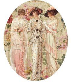 paper 3 women hat box.jpg (526×609)