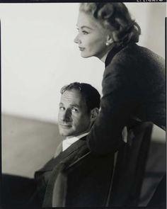 Photographer Irving Penn with his wife, model Lisa Fonssagrives-Penn      Photo by Horst P. Horst, 1951