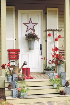 Superior Fresh Christmas Decorating Ideas: Garden Inspired Greeting Small Porches,  Front Porches, Front