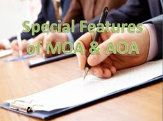 What is MoA and AoA & it's Difference? You know that while forming a company; Memorandum of Association (MOA) and Articles of Association (AOA) are the most essential element. Both play a vital role for company constitution, objectives, power, scope of activities, rules and regulations, rights, duties, responsibilities and etc.
