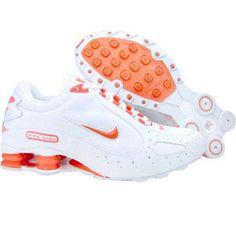 Nike Womens Shox Monster (white / wild mango) 312681-162 - $99.99 Clothing, Shoes & Jewelry : Women : Shoes http://amzn.to/2kHQg0c