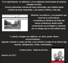 """Montse H Aguilar a Twitter: """"@DavCham #CatARVincertidumbre No toda, """"somos"""" responsables de tragarnos lo q nos echen ... https://t.co/MgSZmGVg6M"""""""