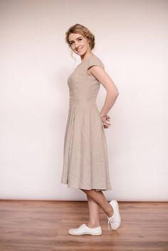 Linen Dresses, Modest Dresses, Casual Dresses, Short Dresses, Lindy Hop, Fit And Flare, Jazz, Civil Wedding Dresses, Casual Wedding