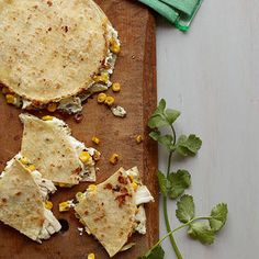 Chicken Goat-Cheese Quesadillas http://www.womenshealthmag.com/weight-loss/lunches-for-weight-loss/chicken-goat-cheese-quesadillas