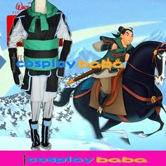 Kingdom Hearts 2 mulan china uniform perfect Battle dress cos Cosplay costume #cosplaybaba