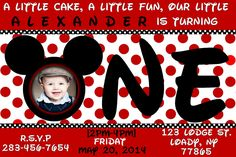 Nice Mickey Mouse 1st Birthday Invitations Ideas  Download this invitation for FREE at https://www.drevio.com/mickey-mouse-1st-birthday-invitations-ideas/