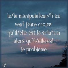 Elle n'est la solution de personne mais LE problème de tous ceux qui croisent sa route ( certain(e)s ne le savent pas encore )