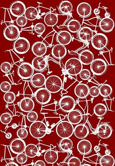 Pile of White Bicycles