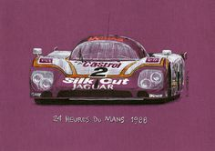 Jaguar XJR-9LM  © Paul Chenard Original art SOLD; limited editions available.