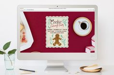 FREE Cookie Holiday Party Online Invitation.