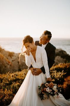 Need some inspiration for a bridal session? Big Sur Bridal Session with Yen and James, photographed by Dawn Charles, Oregon based photographer and edu. Wedding Photo List, Wedding Picture Poses, Romantic Wedding Photos, Wedding Photography Poses, Wedding Poses, Wedding Photoshoot, Wedding Shoot, Wedding Couples, Wedding Pictures