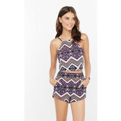 Express Geo Stripe Print Soft Shorts ($40) ❤ liked on Polyvore featuring shorts, multi, short shorts, elastic waist shorts, rayon shorts, elastic waistband shorts and stripe shorts