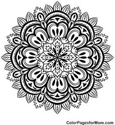 coloring pages for adults Mandala Stress Relief | Mandala 49 Advanced Coloring Page