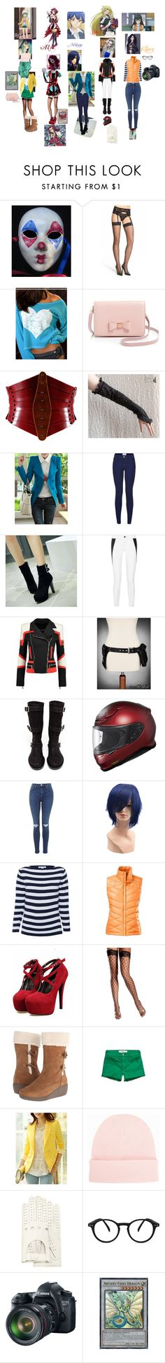 """Yu-Gi-Oh! 5DS Girls"" by ravenbiersack ❤ liked on Polyvore featuring beauty, Falke, Ted Baker, Úna Burke, New Look, Charming Kicks, rag & bone, Balmain, Ann Demeulemeester and The North Face"
