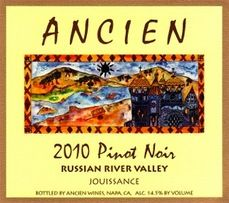 Ancien Wines - Pinot Noir  from Carneros, Sonoma Mountain, Napa Valley, Russian River