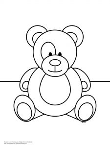 Free Teddy Bear Coloring Page For Kids