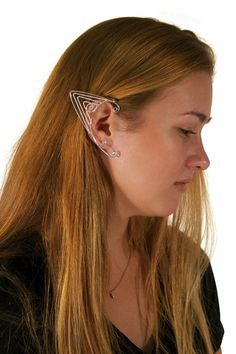 Elf Cuff Triangle Wire - Silver, Renaissance Elf Ears – Hair Twisters