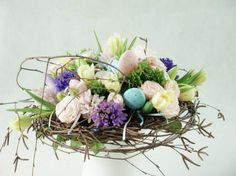 Easter nest floral arrangement
