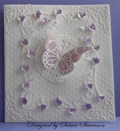 Purple Butterfly by Selma - Cards and Paper Crafts at Splitcoaststampers