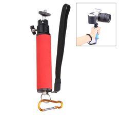 [$4.58] LED Flash Light Holder Sponge Handheld Monopod with Gimbal for SLR Camera(Red)