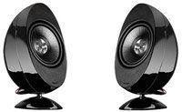 KEF HTS3001BL Black Satellite Speakers (Pair) Speaker Stands, Speaker System, Speaker Mounts, Good And Cheap, Black, Black People