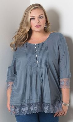 Madelyn Pintuck Top  49.90 by SWAK Designs  swakdesigns  PlusSize  Curvy  Plus Size Shirts 12bbcfc2c4