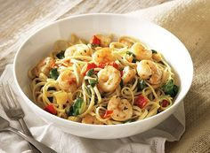 Shrimp Scampi with Roasted Peppers and Spinach from Publix Aprons