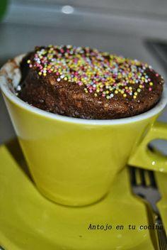 Bizcocho de chocolate en 3 minutos