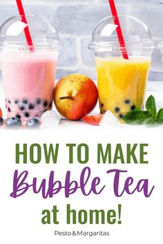 Bubble tea is something a little different in terms of drinks but has some interesting health benefits. Learn about bubble tea recipes, how to make it and what gives it it's name Tea Recipes, Fruit Recipes, Coffee Recipes, Smoothie Recipes, Asian Recipes, Healthy Fruits, Healthy Drinks, Easy Bubble Tea Recipe, How To Cook Noodles