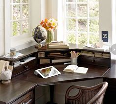 My latest office desk.    Plus Eight organizing ideas to make your home office more manageable.