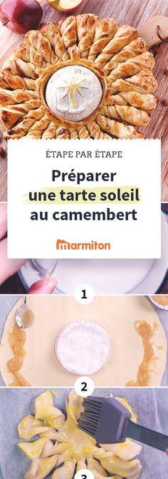 Pour l'apéro, vous devez absolument tester cette tarte soleil au camembert rôti : les feuilletés garnis de pomme et de noisettes sont à tremper dans le fromage coulant, un régal à partager entre amis. De plus c'est très facile à faire en suivant notre pas à pas en images #marmiton #recette #cuisine #pasapas #tartesoleil #soleil #fromage #camembert #pomme #noisette #apéro #apéritif Camembert Roti, Salty Foods, Xmas Food, Christmas Appetizers, Cooking Time, Buffet, Brunch, Food Porn, Good Food