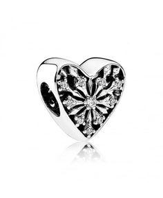 Pandora Frosted Heart Charm 791996CZ Sale Online