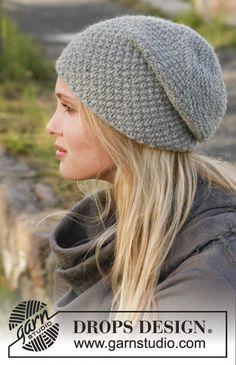 Mossing around - Bonnet DROPS au point de blé, en Nepal. Modèle tricot gratuit femme DROPS 150-50