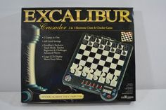 The engineers of Excalibur Electronics have created a state-of-the-art board with real chess pieces and electronic circuits that respond to the position of the pieces on the board. This enables you to play a game against the computer at any time without the need of another person. | eBay!