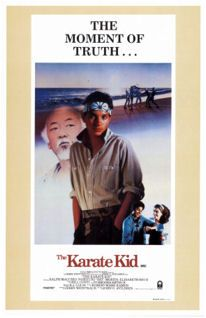 The Karate Kid---1984...wow  really???  Holy moly - Great underdog story.   They should have stopped while they were ahead. I thought the sequels were bad.