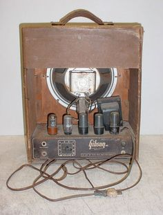 Vintage GIBSON BR-6 Tube Amplifier Amp 1946 Rare - Source Code 285641 - Rola | eBay