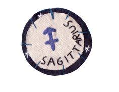 Sagittarius patch by Hanecdote on Etsy,
