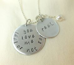 Hunger Games Jewelry Accessories - Hand stamped Real or not real, real, Necklace. $18.00, via Etsy.