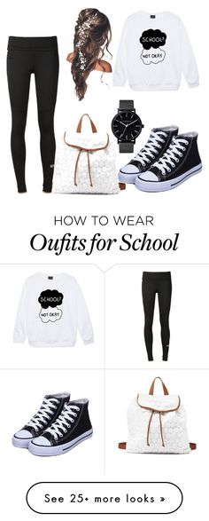 """""""#School #NotOkay"""" by teaafashion on Polyvore featuring Charlotte Russe, adidas and The Horse"""