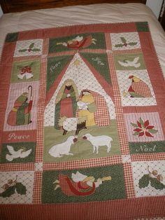 Nativity Scene Christmas Christmas Quilt Wall Hanging Wonderful Detail   eBay