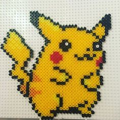 Pikachu  perler beads by  clarej89