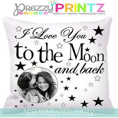 #Personalised #cushion i love you to the moon and back #mothers valentines day gi, View more on the LINK: http://www.zeppy.io/product/gb/2/291408993918/