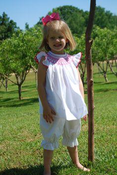 Smocked Bishop Top and bloomers OR Dress. $75.00, via Etsy. BradleyJane