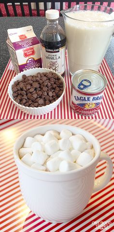 Best Ever Creamy Crockpot Cocoa, a wonderful wintertime treat that you simply MUST TRY!!