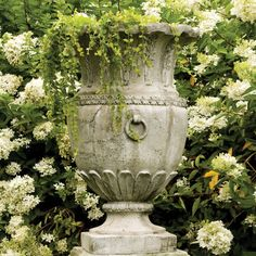 Shop Frontgate's collection of outdoor planters and garden urns to dress up your garden, terrace or entryway. These planters and terrariums make the perfect patio decor. Urn, Beautiful Gardens, Statuary, Garden Urns, Modern Garden, Outdoor Urns, Urn Planters, Garden Design, Garden Pots